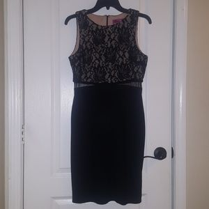 NWOT Black Dress with Lace
